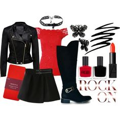 """""""Don Negro Look"""" by mia-rock on Polyvore"""