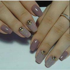100 really cute glitter nail designs! Fabulous Nails, Perfect Nails, Gorgeous Nails, Pretty Nails, Pink Nails, Gel Nails, Nail Polish, Chic Nails, Stylish Nails