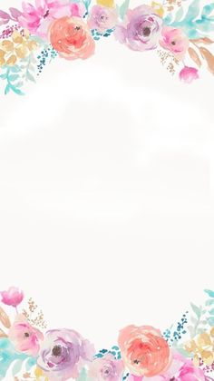 Flower Backgrounds, Flower Wallpaper, Wallpaper Backgrounds, Iphone Wallpaper, Invitation Fete, Invitations, Watercolor Flowers, Watercolor Art, Foto Transfer