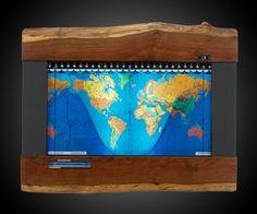 Geochron World Map & 24-Hour Clock | DudeIWantThat.com