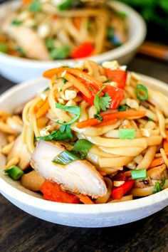 One Pot Teriyaki Chicken Noodles are full of delicious teriyaki chicken, vegetables, and a drenched in a delicious Asian inspired sauce.