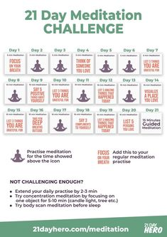 21 Day Meditation Challenge Daily Plan Want to try meditation but don't know where to start? Learn about meditation techniques and start with this Meditation Challenge Plan. Zen Meditation, Chakra Meditation, Chakra Healing, Meditation For Beginners, Meditation Benefits, Meditation Quotes, Meditation Practices, Morning Meditation, Yoga Day Quotes