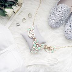 """""""Feminine is never out of style"""" • Featuring our Anais pastel necklace •"""