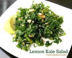 Lemon Kale Salad Recipe #healthy #salad #kale