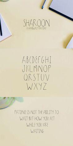 Free Sharoon Handwritten Sans Serif Font