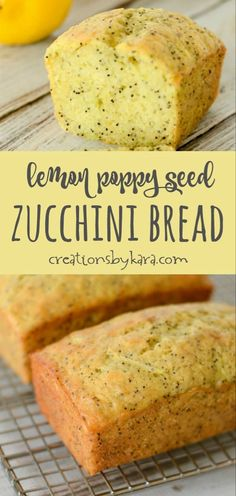 150 calories a serving Recipe for Lemon Poppy Seed Zucchini Bread - use this tip, and no one will suspect this bread contains zucchini! A moist and delicious zucchini bread recipe. Lemon Zucchini Bread, Zucchini Bread Recipes, Lemon Poppy Seed Bread, Banana Zuchini Bread, Zucchini Lasagna, Zucchini Fritters, Zuchinni Bread Muffins, Zucchini Scones Recipe, Dessert Bread