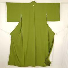 Green iromuji kimono /【色無地】特選品/抹茶色一つ紋付き