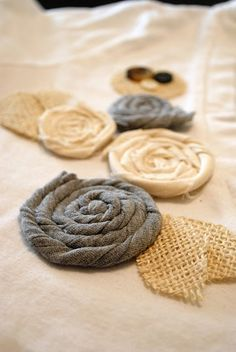 how to make cute looking fabric rosettes