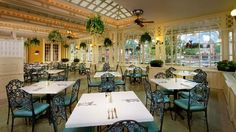 Sun Room at Tony's Town Square Restaurant on Main Street, USA in the Magic Kingdom, Walt Disney World, Florida