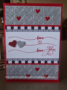 Cards on the table with Vicki: Happy Hearts