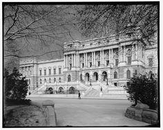 "ca. 1902. ""Entrance pavilion, Library of Congress, Washington."" Jackson, William Henry, 1843-1942, photographer. Detroit Publishing Company Photograph Collection, Library of Congress."
