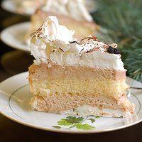 Tort bezowy z kremem mascarpone