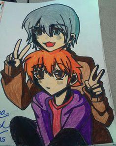 My OC Setaki as a 12-year old and my friends OC Zukkoh