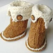Baby SnUgg Boots Knitting Pattern - via @Craftsy