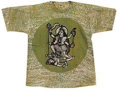Odishabazaar Unisex Cotton Goddess Kali Batik T-shirt Tees XL Green Odishabazaar http://www.amazon.com/dp/B01AO64ZPK/ref=cm_sw_r_pi_dp_aXt7wb0HHNGFC