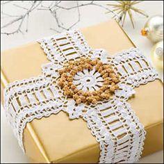 crochet cross with ribbon - Google Search