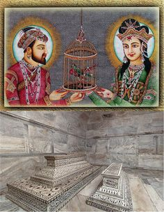 "The Loving Legends. "" Shahjahan & Mumtaz Mahal "". Click the image to know their story !"