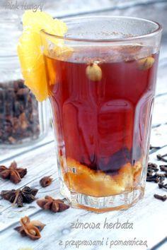 zimowa herbata z przyprawami i pomarańczą 1 Hot Chocolate, Tea Time, Pudding, Coffee, Cooking, Desserts, Food, Kaffee, Kitchen