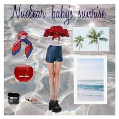 """Nuclear baby's sunrise"" by ekaterina-rogaleva on Polyvore featuring Johanna Ortiz, Angela Valentine Handbags, Les Néréides and Pottery Barn"