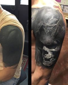 Cover Up Tattoos For Men Arm, Tattoo Sleeve Cover Up, Samurai Tattoo Sleeve, Black Sleeve Tattoo, Realistic Tattoo Sleeve, Full Leg Tattoos, Black Tattoo Cover Up, Cover Tattoo, Black Tattoos