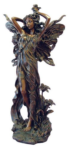 This statue would be the conversation piece of any room, or look graceful placed by a pond of water feature.