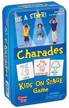 Charades Kids on Stage Tin