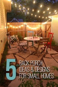 Awesome 5 Back Porch Ideas U0026 Designs For Small Homes