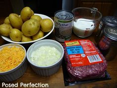 Hamburger Potato Casserole ingredients