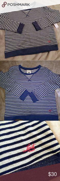 Levi crewneck sweater Blue and gray levi crewneck sweater. New with tags. Levi's Sweaters Crew & Scoop Necks