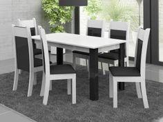 Conjunto de Mesa com 6 Cadeiras Estofadas Madesa - Verona