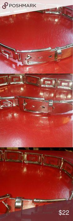 All Metal woman's Belt An all metal belt 30 inch belt, with letter G. Motif. G by Guess Accessories Belts