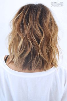 20 New Wavy Hairstyles for Short Hair - Hair Styles Hair Styles 2014, Medium Hair Styles, Curly Hair Styles, Hair Medium, Short Styles, Hair Day, New Hair, Body Wave Perm, Summer Hairstyles