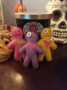 Wenn's Weird Creations miniature voodoo doll keychains available on etsy for $5.00