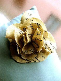 Love this burlap flower!