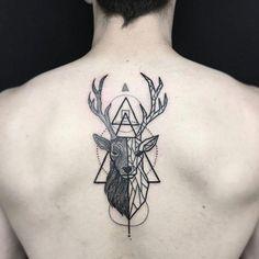 spiritual geometric tattoo designs & meanings - shapes and patterns of 2018 - tattoo ideas - spiritual geometric tattoo designs & meanings – shapes and patterns from 2018 # meanings - Tattoos 3d, Trendy Tattoos, Tattoos For Guys, Cool Tattoos, Stag Tattoo, Back Tattoo, Tattoo Art, Chest Tattoo, Hirsch Tattoos