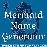 The Mermaid Name Generator: Your Mermaid Name and Species--wait, there are species?