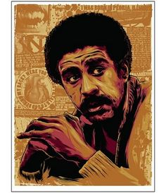 Richard Pryor turned his sometimes tragic life story into some of the best stand-up of all time. Richard Pryor, King Richard, Black Love Art, Black Man, Black Art Pictures, Black Artwork, Afro Art, Dope Art, African American History