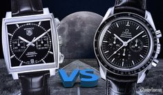 Which of these two iconic chronographs is the best? Let's compare the TAG Heuer Monaco VS Omega Speedmaster Professional watches and you be the judge!