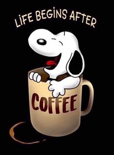 F - Unique Wallpaper Quotes I Love Coffee, Coffee Art, My Coffee, Coffee Shop, Coffee Cups, Coffee Maker, Snoopy Images, Snoopy Pictures, Peanuts Cartoon