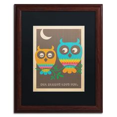 'Rainbow Owls' by Anderson Design Group Framed Graphic Art