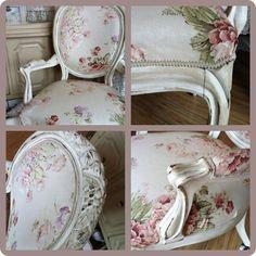 beautiful shabby chic | LOVE!! Beautiful shabby chic chair
