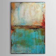 Abstract Oil Painting Hand-Painted Canvas Wall Art Other Artists One Panel Ready to Hang – USD $ 46.74