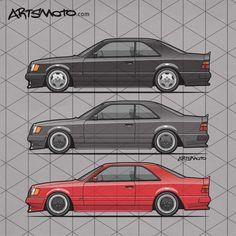 #hammertime: Mercedes-Benz AMG 300ce 'Hammer' C124 widebody coupes trio-shirts now available +++ #artsmoto #mercedesbenzw124 #mercedesbenz #amg #mercedesamg #classiccar #luxurycar #germancars #mercedescoupe #classicbenz #90s #black #red #anthracite #monoblock #aerowheels #retroride #tuning #fashion #ladydriven #gentlemanride #automotiveapparel #drivetribe +++ Artsmoto.com