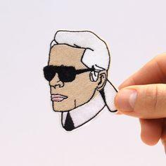 Karl Lagerfeld Patch von mimosch auf Etsy