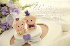 pig Wedding Cake Topper-love Piggy and Piglet. $100.00, via Etsy.