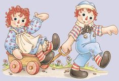 Photo of Raggedy Ann and Andy for fans of Raggedy Ann and Andy. Raggedy Ann and Andy Ann Doll, Pintura Country, Clip Art, Raggedy Ann And Andy, Digi Stamps, Paper Dolls, Childhood Memories, Decoupage, Teddy Bear