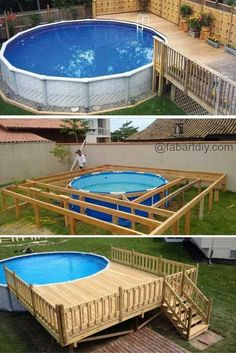 Deck Above Ground Pool Diy.Above Ground Pools Decks Idea Above Ground Pool Deck . Above Ground Pools With Decks Dallas Tx Design Idea Wood . 7 Reasons To Choose An Above Ground Pool . Home and furniture ideas is here Swimming Pool Decks, Above Ground Swimming Pools, Swimming Pool Designs, In Ground Pools, Pool Landscape Design, Deck Design, Piscina Pallet, Piscina Rectangular, Oberirdische Pools