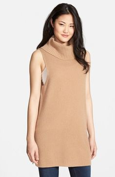 Halogen® Cowl Neck Merino Wool & Cashmere Tunic Sweater available at #Nordstrom