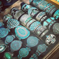 Southwestern Turquoise Cuff Bracelets