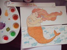 Santiago Régis: Encomenda do Rafael Mussolini #watercolor #mermaid #illustration